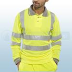 Yellow Hi-Visibility Long Sleeve Polo Shirt