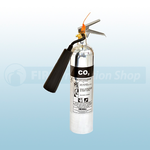 FireShield 2Kg Polished Co2 Fire Extinguisher