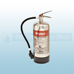 FireShield 6Ltr Stainless Steel Water Fire Extinguisher