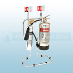 Polished Aluminium Water & Co2 Fire Safety Pack