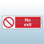 400mm x 300mm Rigid Plastic No Exit Sign