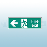 300mm X 100mm Self Adhesive Fire Exit Left Sign