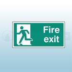 400mm X 200mm Rigid Plastic Fire Exit Sign