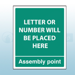 250mm X 300mm Rigid PVC Assembly Point Sign