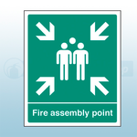 600mm X 450mm Rigid Plastic Fire Assembly Point Sign