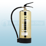 FireShield Contempo Polished Gold 6Ltr AFFF Foam Fire Extinguisher