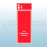 Single Fire Extinguisher Foam PVC Board