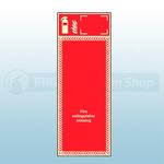 Single Fire Extinguisher Photoluminescent Foam PVC Board