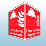 150mm X 200mm Rigid Plastic Fire Fighting Equipment Projecting Sign