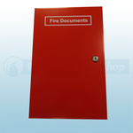 Red Slimline Fire Document Cabinet With Key Lock