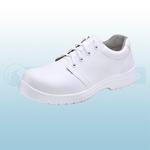White Micro-Fibre Tie Shoes