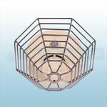 STI Steel Web Stopper, Low Profile, Flush Mount - STI 9609-SS Stainless Steel