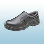 Black Micro-Fibre Slip On Shoes