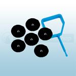 FireChief Blue Pin & Black Ok Indicator (Pack Of 25)