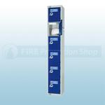 6 Locker 450mm Combi Lock PPE Storage Locker