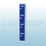 4 Locker 450mm Combi Lock PPE Storage Locker
