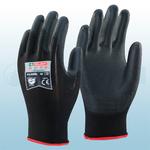 Black PU Coated Nylon Gloves