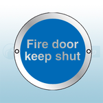 80mm X 80mm Prestige Anodized Aluminium Fire Door Keep Shut (Silver)
