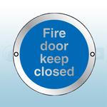 80mm X 80mm Prestige Anodized Aluminium Fire Door Keep Closed (Silver)