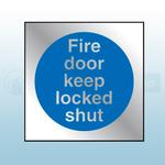 90mm X 90mm Prestige Fire Door Keep Locked Shut (Silver)