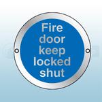 80mm X 80mm Prestige Anodized Aluminium Fire Door Keep Locked Shut (Silver)