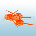 Orange Universal 4mm Fire Extinguisher Safety Pins x25